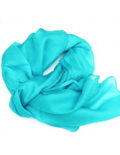 Foulard en soie turquoise