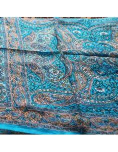 Foulard turquoise à motifs 2