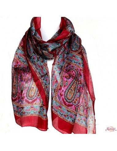 Achat foulards soie bariolés   boutique Mosaik   fs138 47ad089dd20