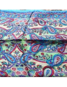 Foulard en soie turquoise... 2