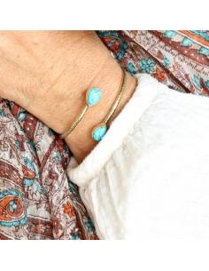 Bracelet en laiton brossé... 2