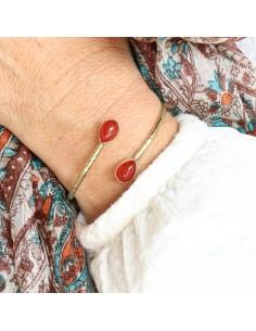 Bracelet réglable laiton et... 2