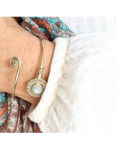 Bracelet laiton et pierre... 2