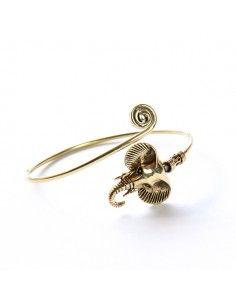 Bracelet éléphant laiton doré
