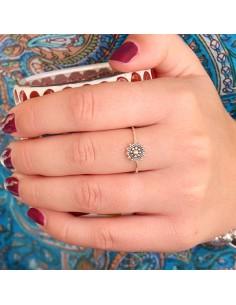 Bague fine en argent style bohème - Mosaik bijoux indiens 2