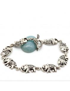 Bracelet en argent éléphants