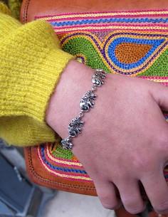 Bracelet en argent éléphants 2