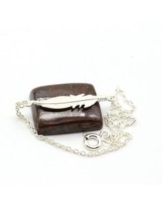 Bracelet argent plume