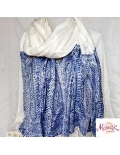 Etole blanche et bleue à...