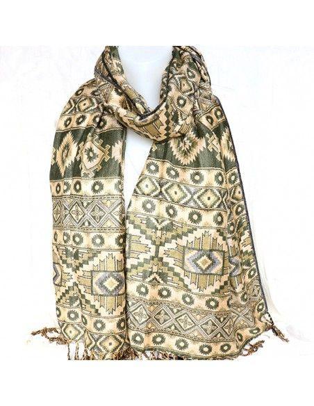 Etole verte kaki - Mosaik bijoux indiens