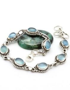 Bracelet en argent et onyx...