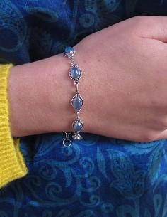Bracelet en argent et onyx... 2