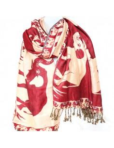 Etole rouge motifs éléphants