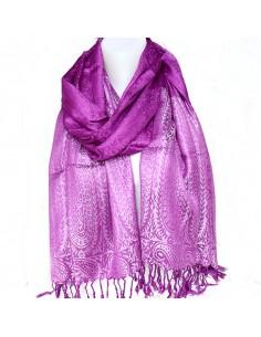 Étole violette en viscose
