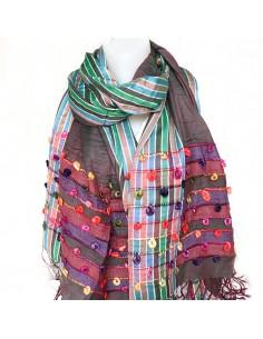 Grandes étoles   écharpes colorées d Inde   Boutique Mosaik c16e9f7cb66