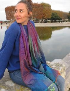 Foulard fin multicolore 2