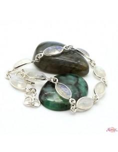 Bracelet argent et pierres...