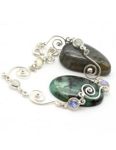 Bracelet argent et pierre...