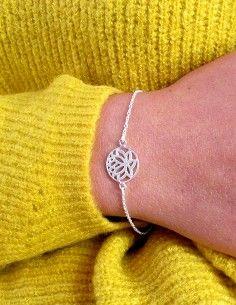 Bracelet argent fin fleur... 2