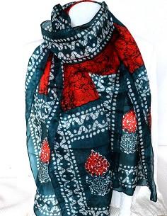 Foulard en soie ethnique