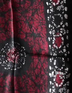 Foulard en soie noir et... 2