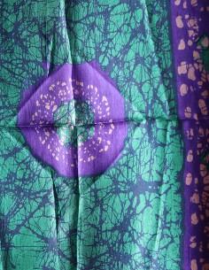 Foulard en soie violet et... 2