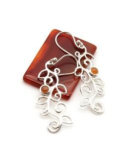 Boucles d oreilles argent et pierres semi précieuses  Boutique Mosaik 35645e51e93