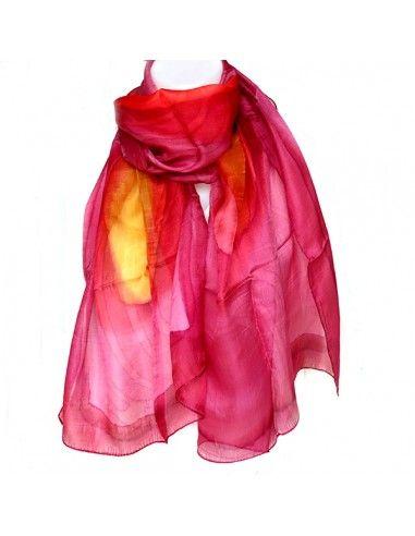 eeb52d6e98a Vente foulards en soie rose