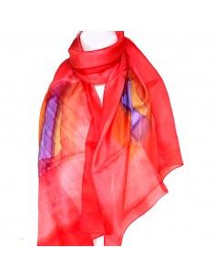 Foulard rouge en soie...