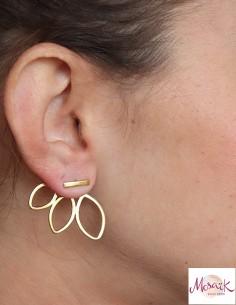 Clous d'oreilles pétales en... 2