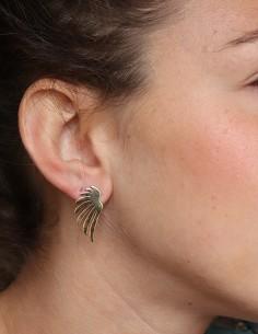Boucles d'oreilles dorées ailes d'ange - Mosaik bijoux indiens 2