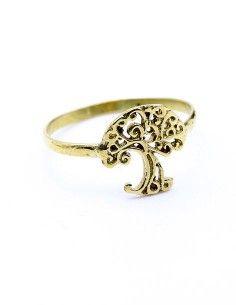 Bague arbre de vie dorée - Mosaik bijoux indiens