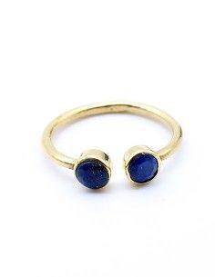 Bague laiton et lapis lazuli