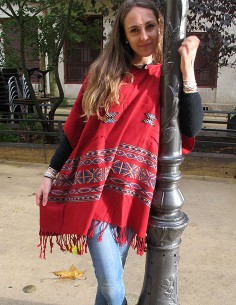 Poncho rouge indien 2
