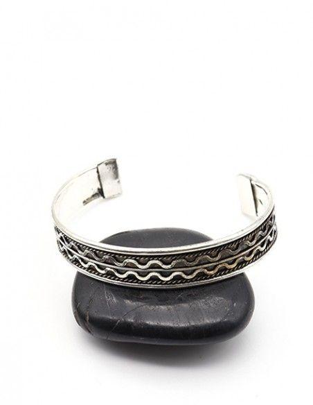 Bracelet argenté ethnique - Mosaik bijoux indiens