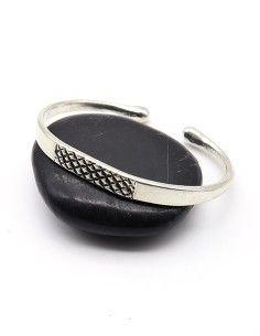 Bracelet métal argenté à...