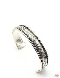 Bracelet argenté ciselé