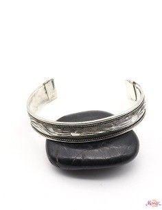 Bracelet argenté ciselé 2