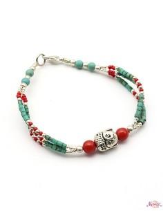 Bracelet fin tête de Bouddha