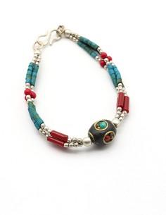 Bracelet tibétain à perles