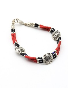 Bracelet tibétain rouge