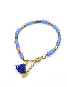 Petit bracelet perles bleues