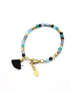 Bracelet perles bleues...