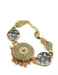 Bracelet métal doré et...