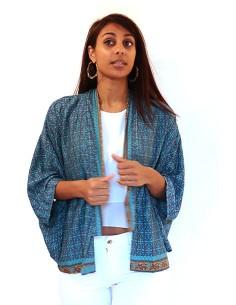 Kimono soie et polyester...