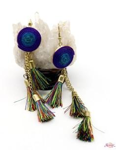 Boucles d'oreilles pompons