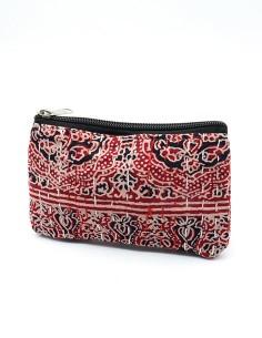 Pochette de sac en tissu rouge