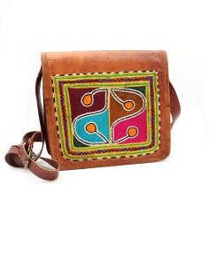Sac en cuir carré Gujarat