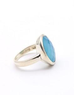 Bague argent et onyx bleu... 2