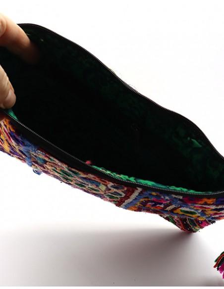 Pochette indienne en tissu et broderies -  Mosaik bijoux indiens